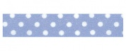 Dekorszalag, 1,5 cm x 10 m - small dots on light blue background SBA169